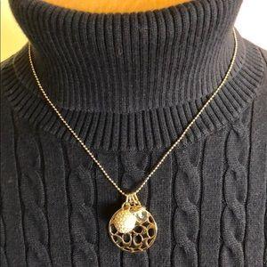 """COACH Monogram Gold Pendant Necklace. 18"""""""